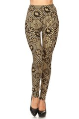 Ultra Soft Abstract Elephant Printed High Waisted Leggings