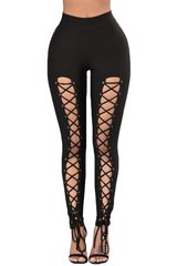 High Waist Lace up Front Legging