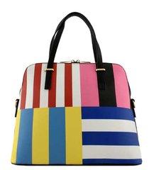 Multicolored Stripe Satchel