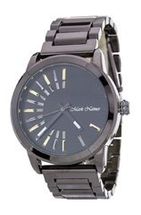 Men's Iconic Dials Gunmetal and Black Fashion Watch