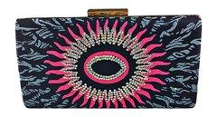Handmade Rhinestone Ankara Print Clutch Bag, ADAEZE