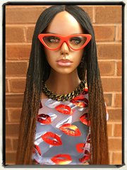 Handmade Micro Twist Ombre Braided Wig Color 1b/30, 32Inches