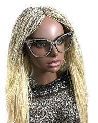 Semi Million Braid Twist Wig Color Blonde 613, 34 Inches
