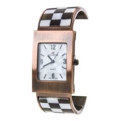 Women's Paved Checker Shell Bangle Watch