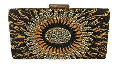 Handmade Rhinestone Ankara Print Clutch Bag, AMAKA