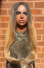 Hand braided Micro Twist Wig, Blonde 30 inches