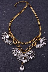 Antique Gold & Crystal Necklace