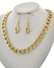 Metal Chain Necklace Set