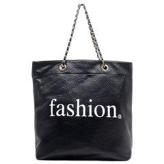 Black Fashion Shopper Tote