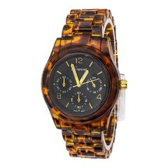 Geneva Tortoiseshell Fashion Chrono Watch
