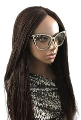 Handmade Micro Twist Braided Wig with Net Closure,Color 33, 24 Inches