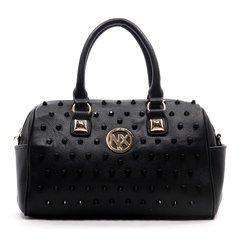 NX Color studded Black Boston Bag