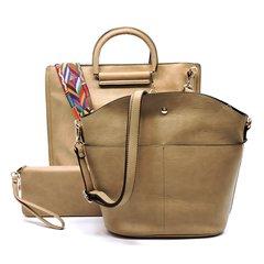 Women's 3 in 1 Bag, Satchel, Cross Body Bag and Wallet Set