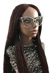 Women's Hand Braided Micro Twist Lace Front Wig Color 33, 32 Inches