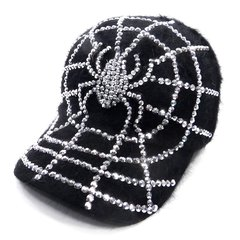Clear Crystal Spider Cap