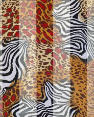 Zebra and Leopard Print Satin Stripe Scarf