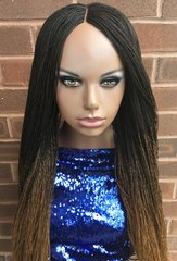 Handmade Micro Twist Ombre Braided Wig Color 2/27, 30 Inches