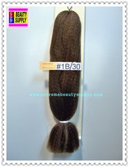100 % kanekalon braid hair color # 1b/30 black brown mix dreadlock dread lock kanekalon synthetic braid hair dreadlock dread lock doll reroot paty COSTUME crown stage play color extension 38 inch long (when unfold it ) 2 oz w.t