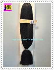 100 % kanekalon braid hair color # 1 jet black dreadlock dread lock kanekalon synthetic braid hair dreadlock dread lock doll reroot paty COSTUME crown stage play color extension 35 inch long (when unfold it ) 2 oz w.t