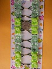 green bear ELASTIC tie jumbo beads hair Knocker girl Scrunchie Balls Ponytail Holder