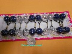 clear ball navy blue  ELASTIC TIE JUMBO BEADS HAIR KNOCKER GIRL SCRUNCHIE BALLS PONYTAIL HOLDER tie