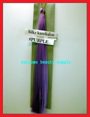 straight silky color PURPLE 100% kanekalon synthetic braid hair dreadlock dread lock doll reroot paty COSTUME crown stage play