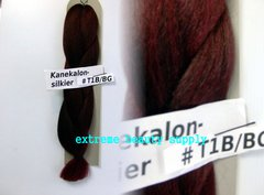 SILKIER silky color # 1B / BURGUNDY OFF BLACK BURGUNDY Afrelle kanekalon synthetic braid hair dreadlock dread lock doll reroot paty COSTUME crown stage play