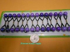 purple light ELASTIC TIE JUMBO BEADS HAIR KNOCKER GIRL SCRUNCHIE BALLS PONYTAIL HOLDER