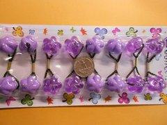 purple  ELASTIC  jumbo beads hair tie Knocker girl Scrunchie Balls Ponytail Holder