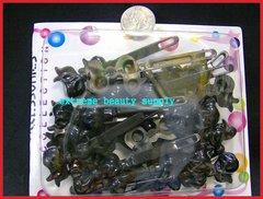 black ribbon Plastic girl hair Barrette clip bow pin
