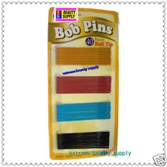 big red sky blue black yellow bobby pins bob pin Secure girl clip color Bow clamp roller pin rubber tips 2 3/4 inch long & 40 count""