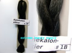 SILKIER silky color # 1B OFF BLACK Afrelle kanekalon synthetic braid hair dreadlock dread lock doll reroot paty COSTUME crown stage play