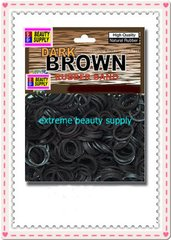 small rubber band dark brown color pony tail holder braid hair scrunchies bracelet  girl cheerleader  Size 1/2 inch diameter