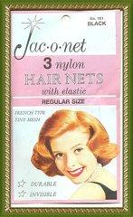 Jac O Net Black retro very thin franch tiny mesh 161 nylon hair 3 nets Free shipping USA only
