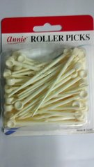 "annie roller picks 3"" long PLASTIC PICKS FOR USE WITH HAIR ROLLERS"