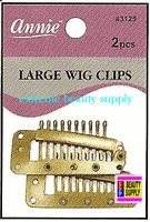 "Annie Wig Clips 2 count pcs size "" LARGE or SMALL color "" Blond "" clip in extension clip weave high light clip"