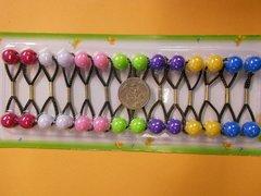 pink purple green Knocker elastic Scrunchies hair girl Balls Ponytail Holder