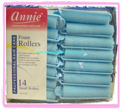 "annie Foam roller 1/2"" x 2 1/2"" small inch jumbo 14 count pink dry damp set blue"