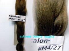 SILKIER silky color # M 4 / 27 MEDIUM DARK BROWN with HONEY BLOND Afrelle kanekalon synthetic braid hair dreadlock dread lock doll reroot paty COSTUME crown stage play