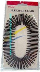 annie hair comb color black Sport Plastic Circle Hair Band Full Flexible Comb Headband Clip