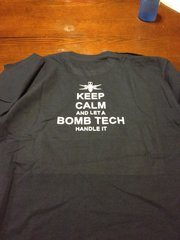 Keep Calm Bomb Tech Unisex Tee