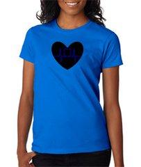 Blue Line Heart Women's Tee