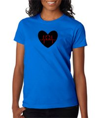 Red Line Heart Women's Tee
