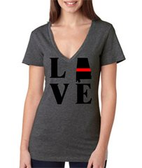 LOVE Red Line State - Fire V Neck
