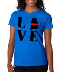 LOVE Red Line State Fire Women's Tee