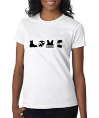 Love Equipment - Military Women's Tee Shirt