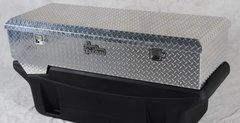 Titan Fuel Tanks Large Locking, Aluminum Diamond Plate, Toolbox 1999-2017 F250-450
