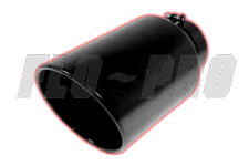 Flo Pro Black Exhaust Tips Rolled Angle