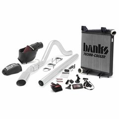 Banks 6.4 Big Hoss Bundle, Complete Power System with Single Exhaust, Chrome OR Black Tip for use with 2008-2010 Ford 6.4L, ECSB-CCSB Extended Cab to Crew Cab Short Bed, Short Wheelbase