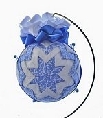 quilted fabric star ornament, handmade ornament, christmas ornament